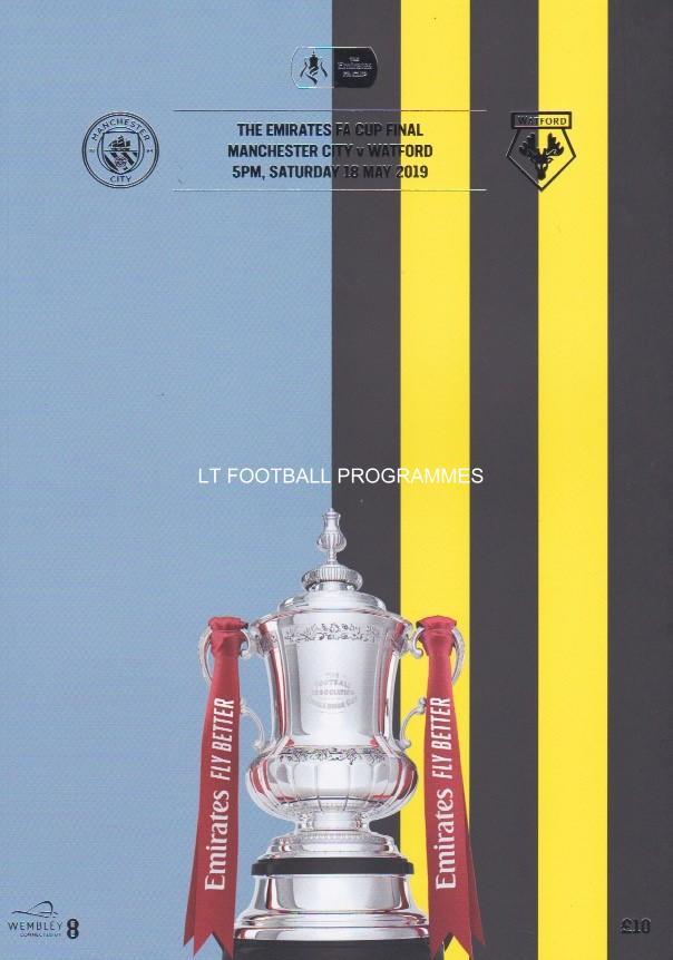 2019 FA CUP FINAL - MAN CITY v WATFORD (POST FREE)