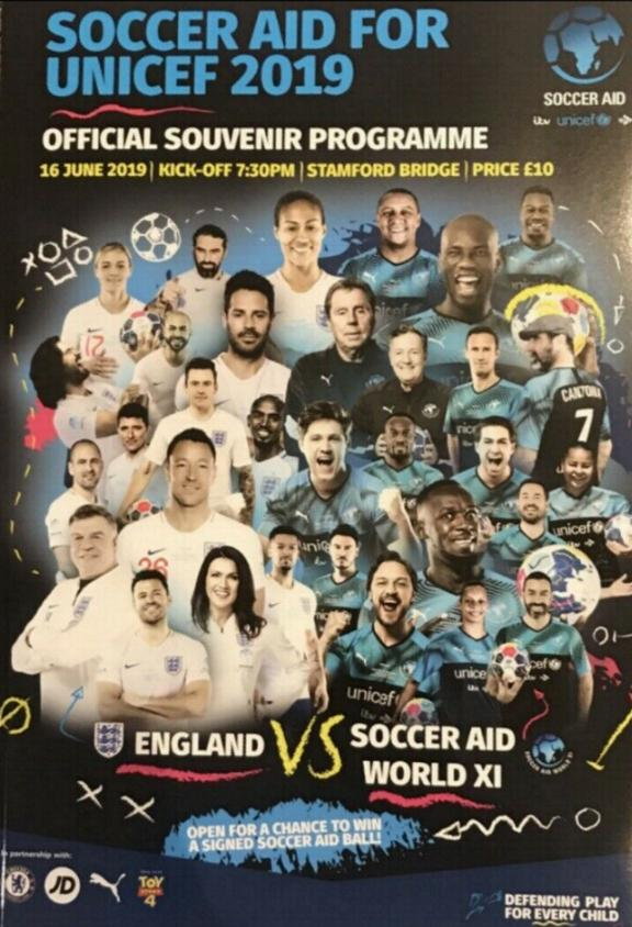 2019 - SOCCER AID - ENGLAND v REST OF THE WORLD