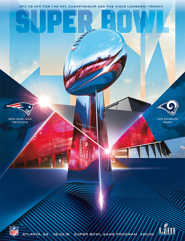 2019 SUPER BOWL PROGRAMME - PATRIOTS v LA RAMS