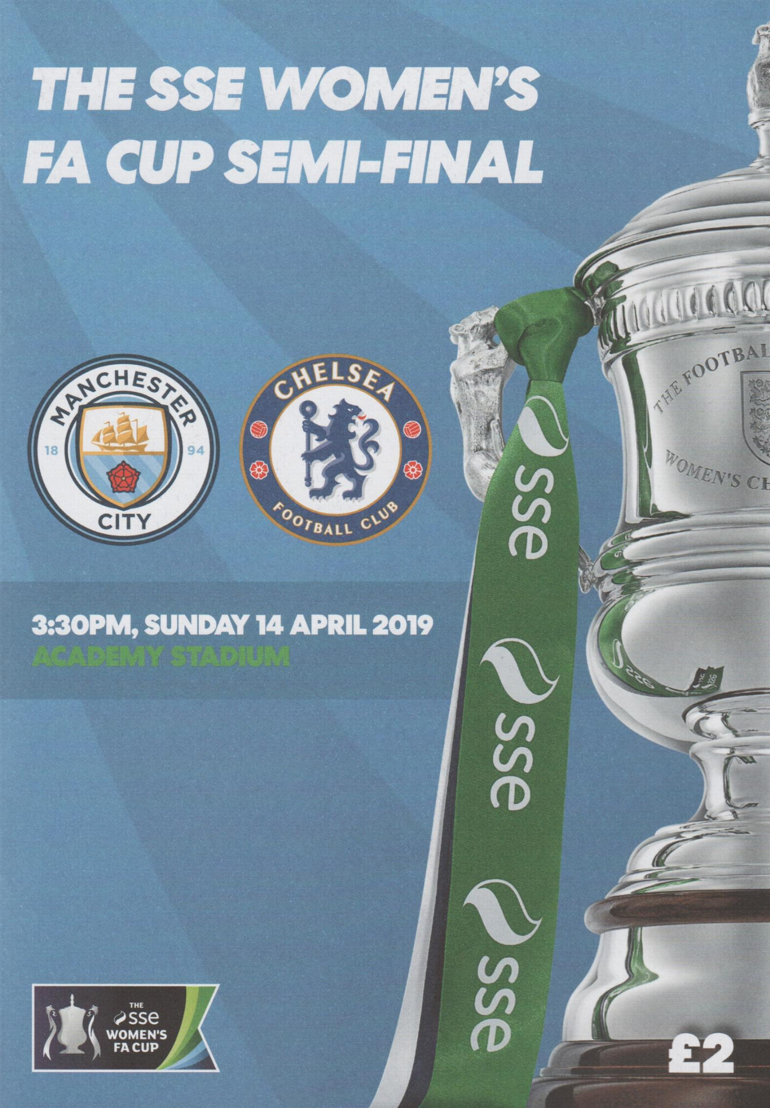 2019 WOMENS FA SEMIS - MAN CITY v CHELSEA & WEST HAM v READING