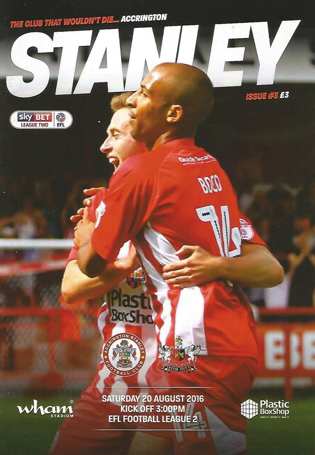 ACCRINGTON STANLEY v EXETER CITY 2016/17