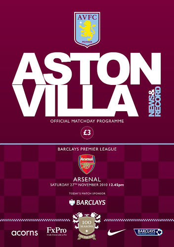 ASTON VILLA v ARSENAL 2010/11
