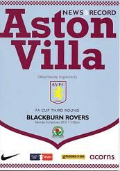 ASTON VILLA v BLACKBURN ROVERS 2009/10 (FA CUP)