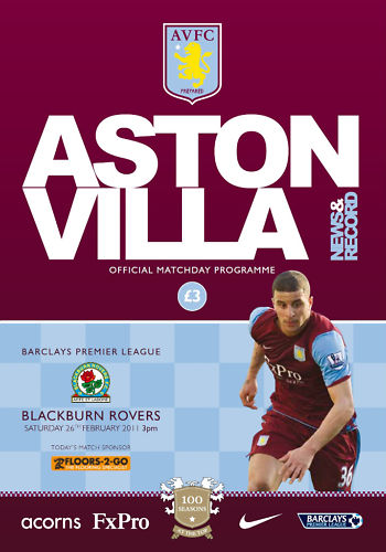 ASTON VILLA v BLACKBURN ROVERS 2010/11