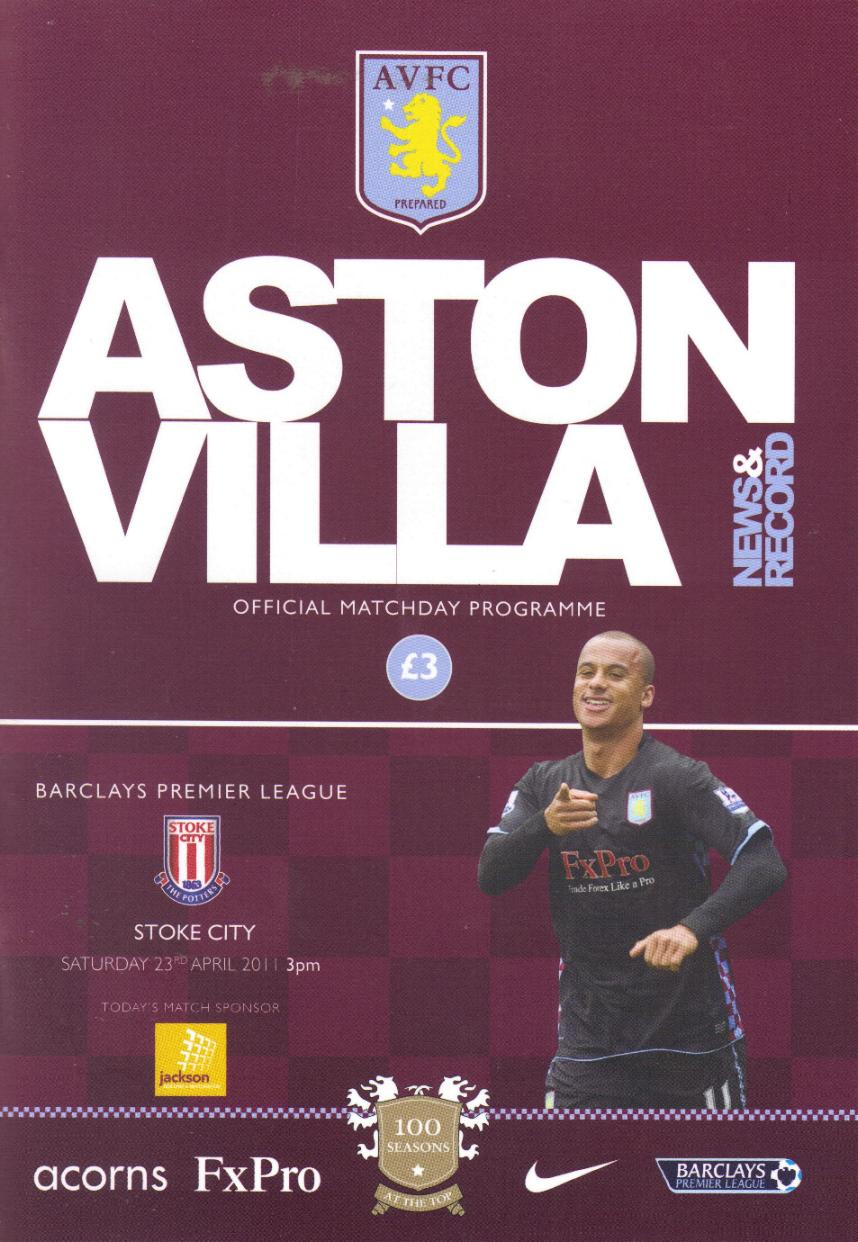 ASTON VILLA v STOKE CITY 2010/11