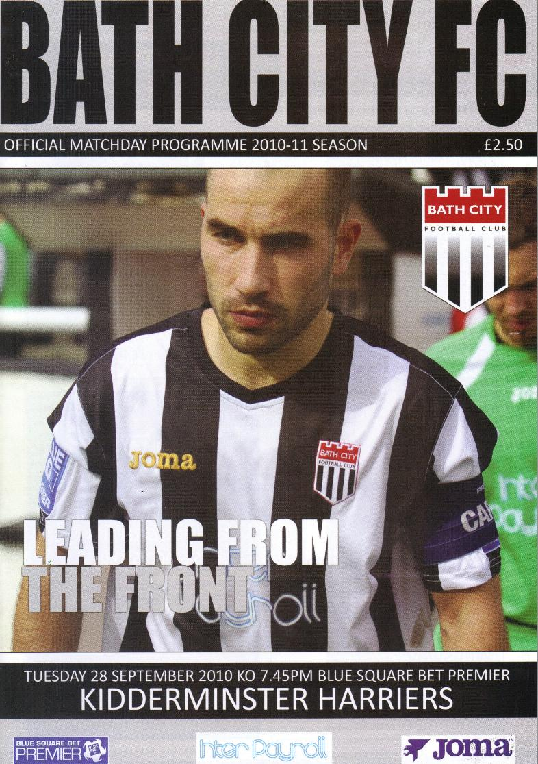 BATH CITY v KIDDERMINSTER HARRIERS 2010/11
