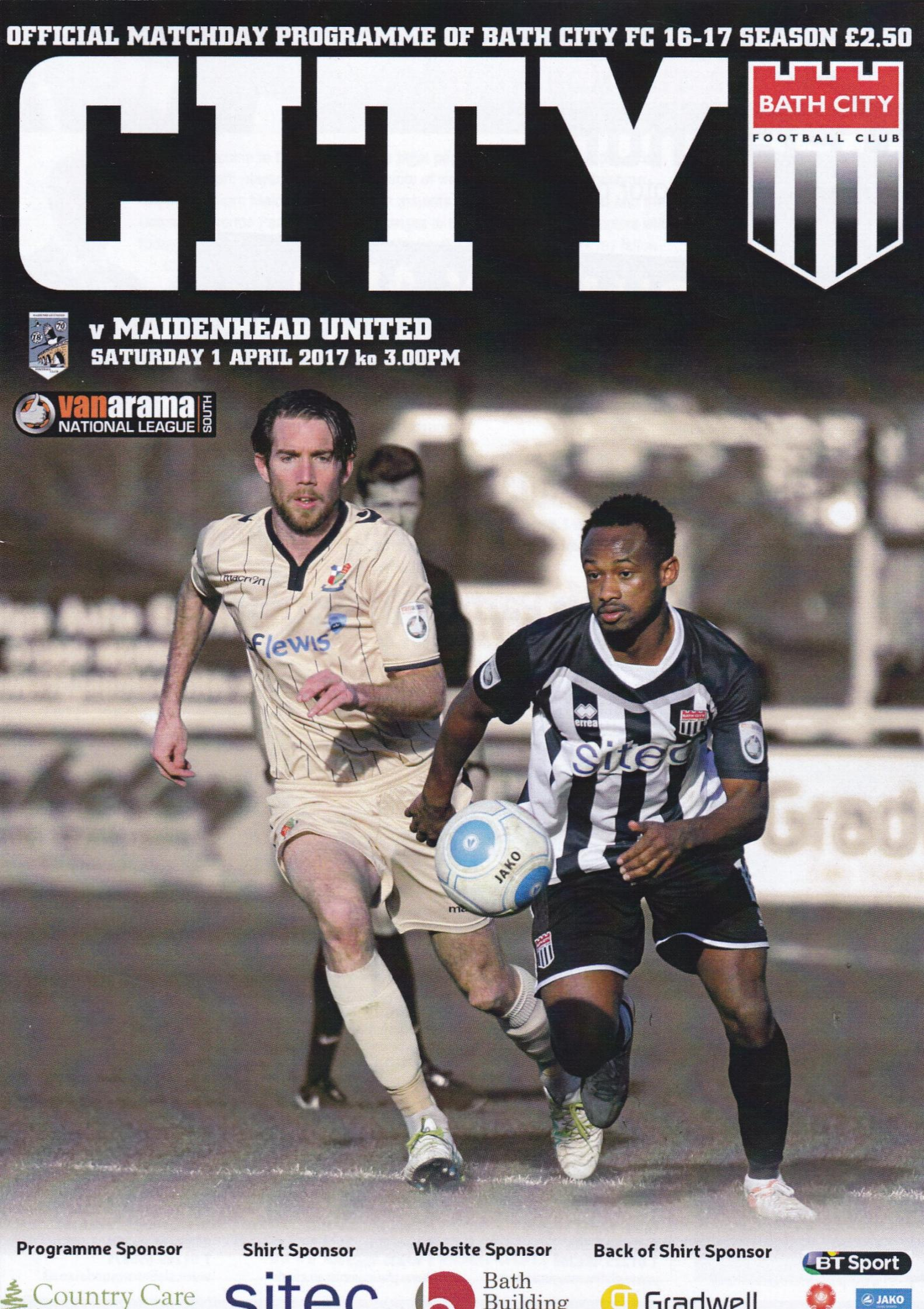 BATH CITY v MAIDENHEAD UNITED 2016/17