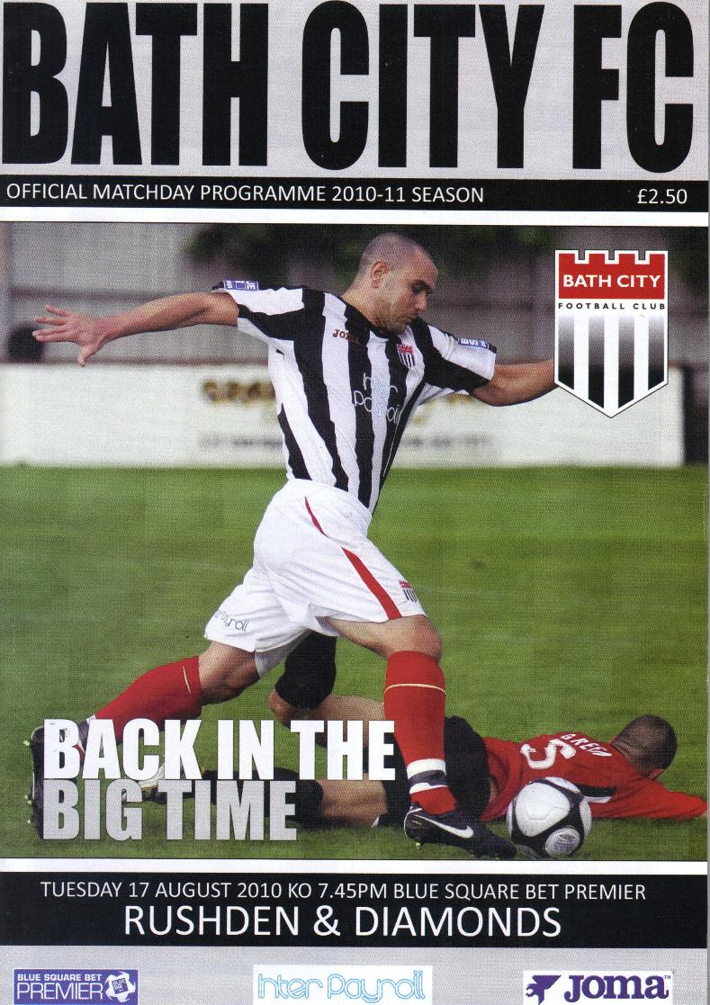 BATH CITY v RUSHDEN & DIAMONDS 2010/11