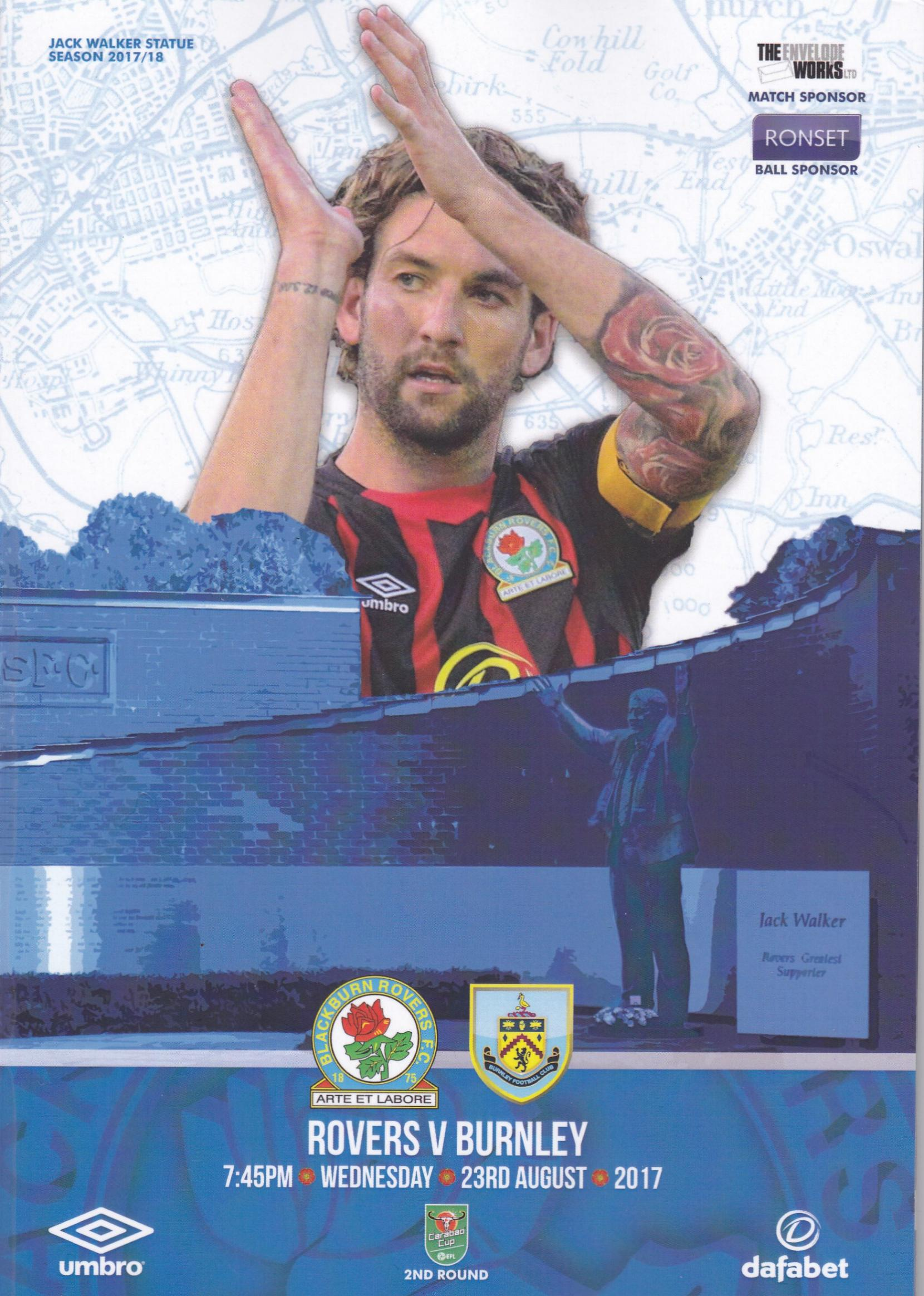 BLACKBURN ROVERS v BURNLEY (LEAGUE CUP) 2017/18