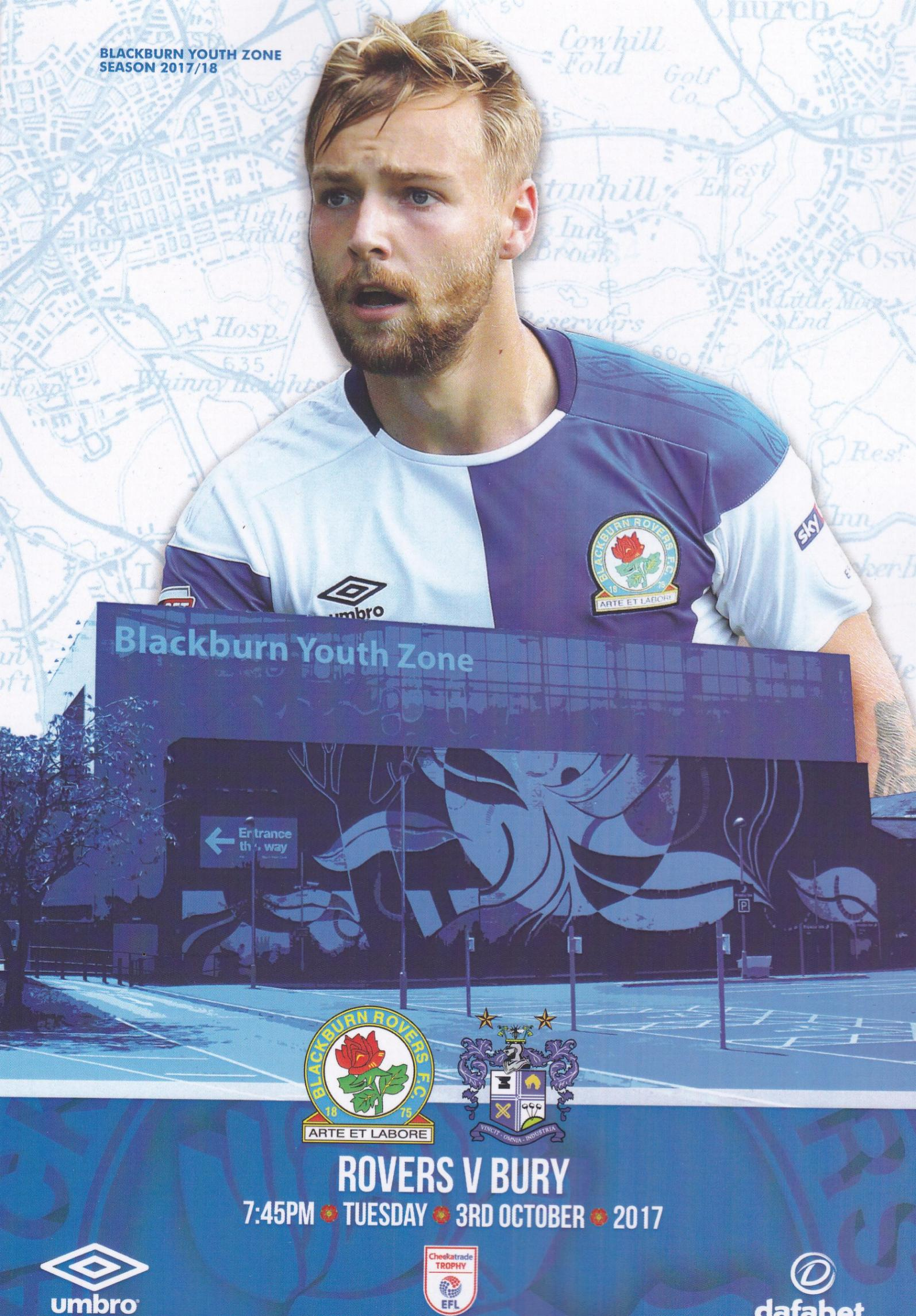 BLACKBURN ROVERS v BURY (CHECKATRADE TROPHY) 2017/18
