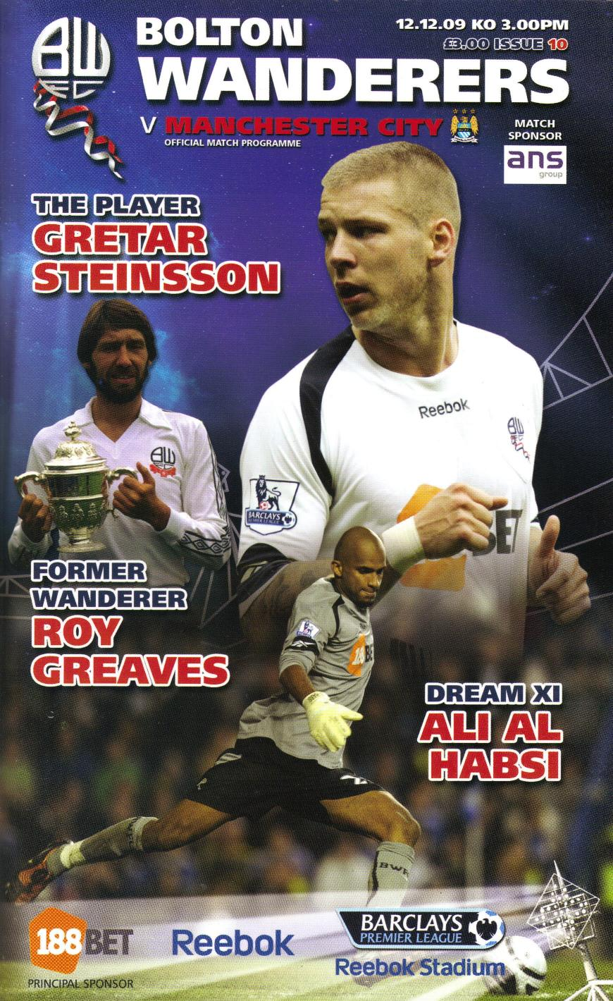 BOLTON v MAN CITY 2009/10