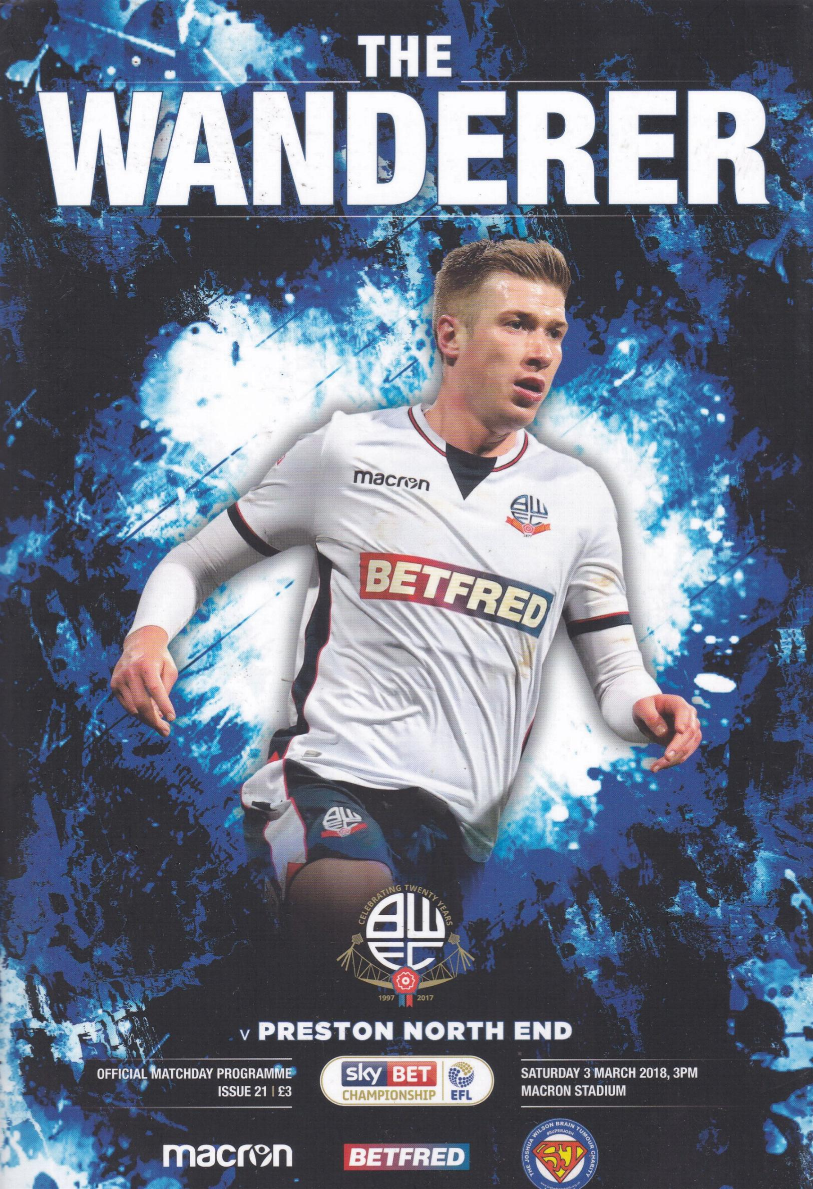BOLTON WANDERERS v PRESTON NORTH END 2017/18