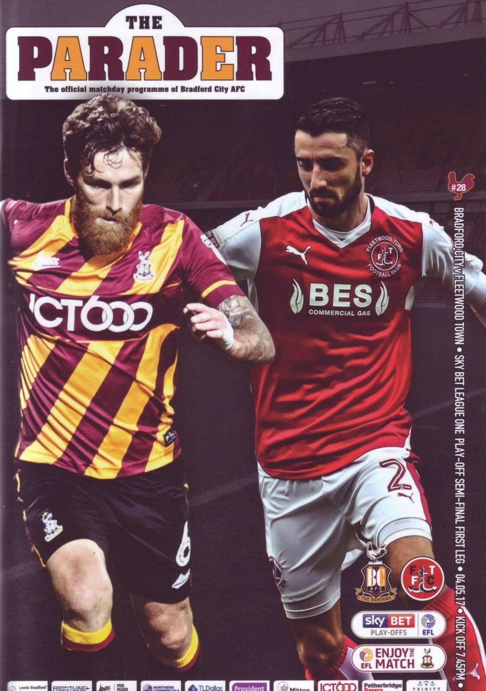 2017 PLAY-OFF SEMI-FINAL - BRADFORD CITY v FLEETWOOD TOWN
