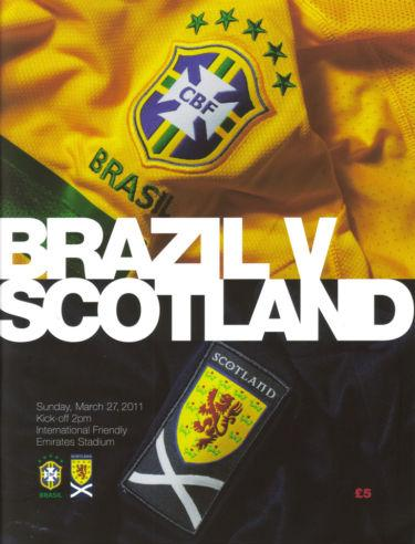 2011 - BRAZIL v SCOTLAND (AT EMIRATES - ARSENAL)