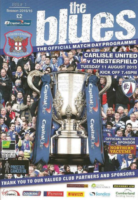 CARLISLE UNITED v CHESTERFIELD 2015/16 (CAPITAL ONE CUP)