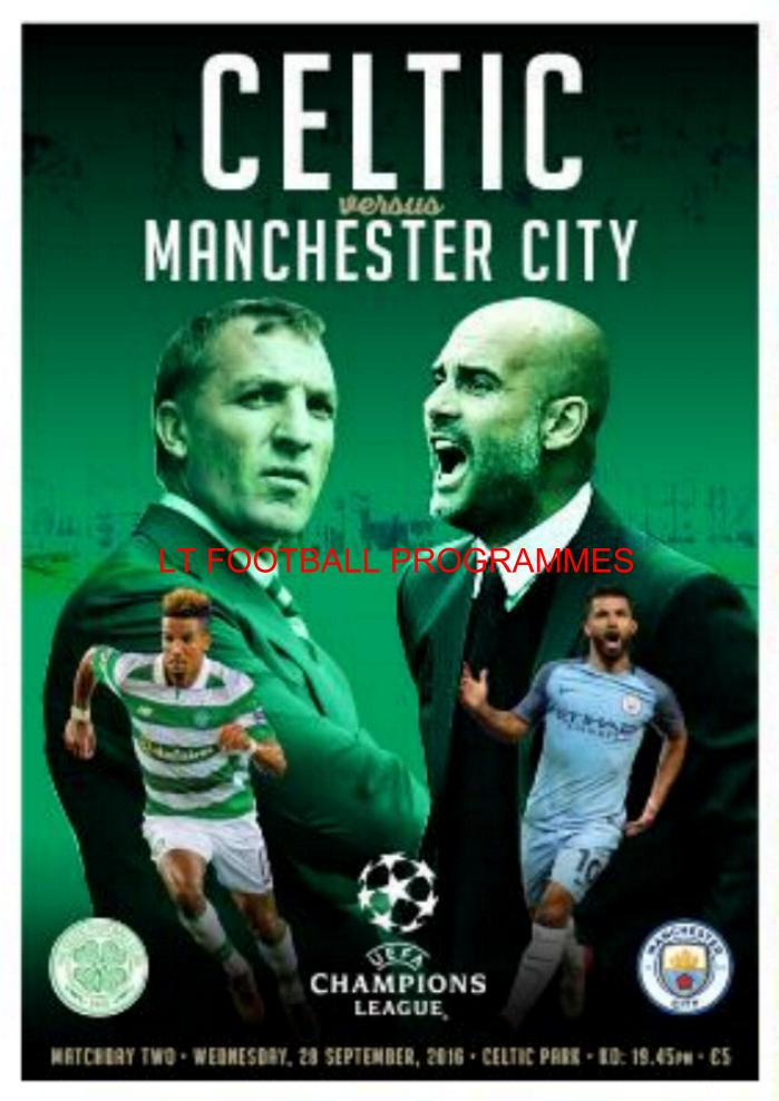 2016/17 CHAMPIONS LEAGUE - CELTIC v MAN CITY