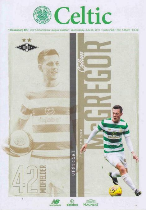 2017/18 CHAMPIONS LEAGUE - CELTIC v ROSENBORG