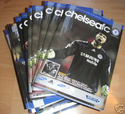 COLLECTION OF 15 x 2007/08 CHELSEA HOME PROGRAMMES
