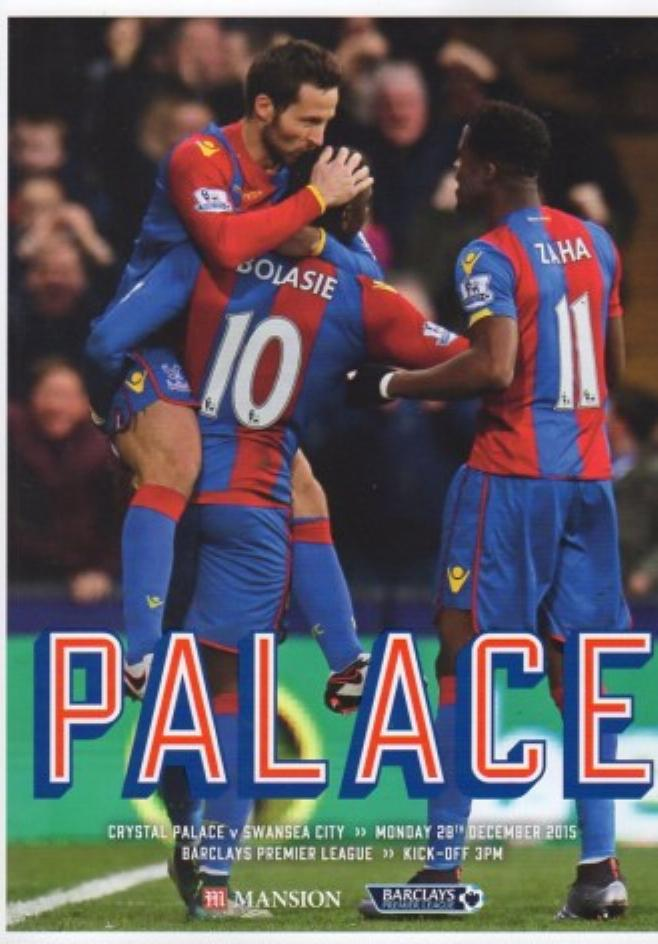 CRYSTAL PALACE v SWANSEA CITY 2015/16