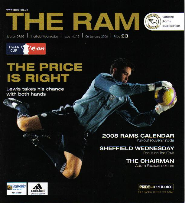 DERBY COUNTY v SHEFFIELD WEDNESDAY 2007/08 (FA CUP)