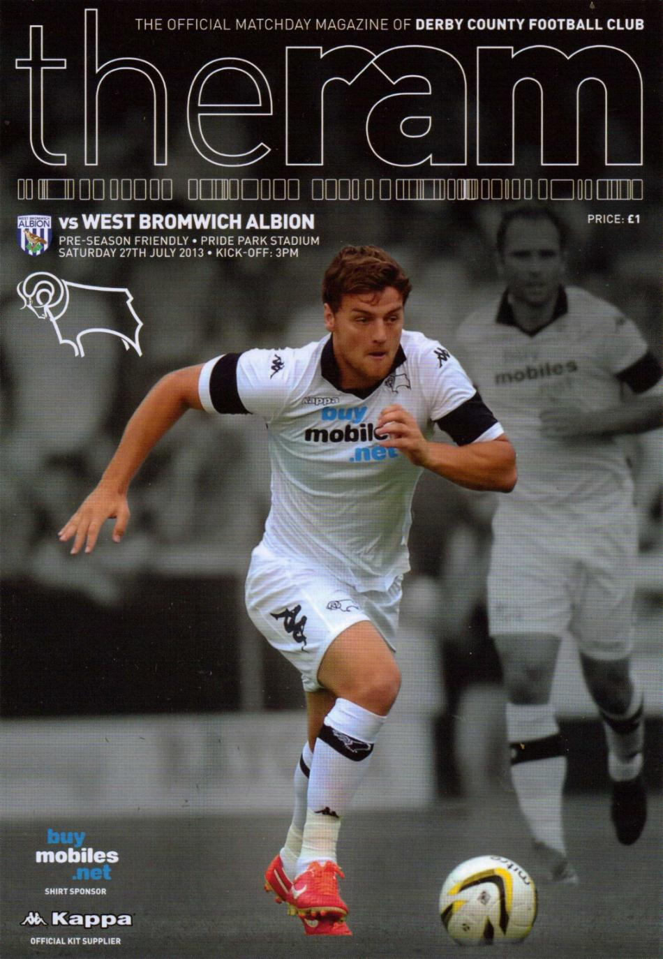 DERBY COUNTY v WEST BROM 2013/14 (FRIENDLY)