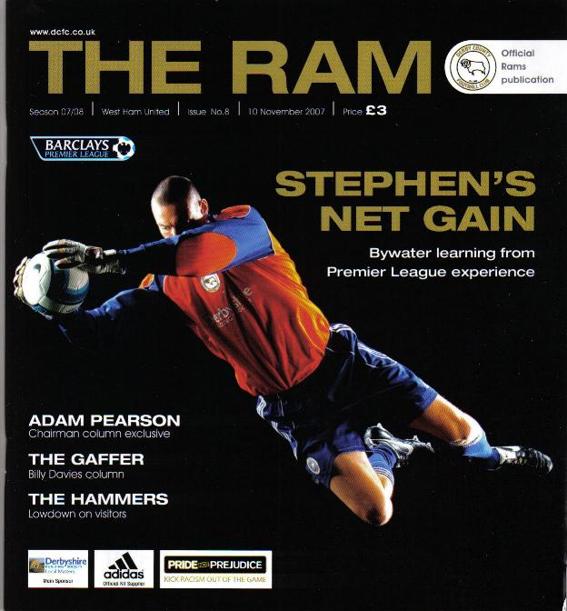 DERBY COUNTY v WEST HAM 2007/08
