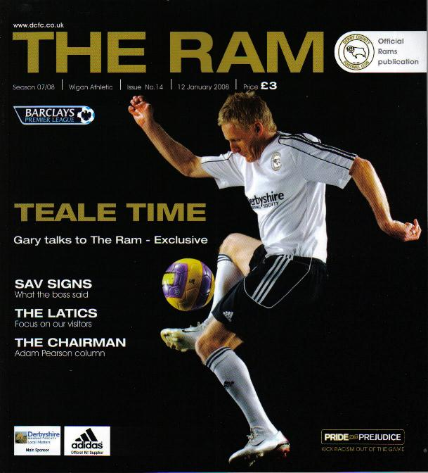 DERBY COUNTY v WIGAN ATHLETIC 2007/08