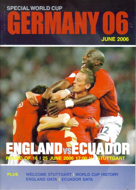 2006 WORLD CUP FINALS - ENGLAND v ECUADOR