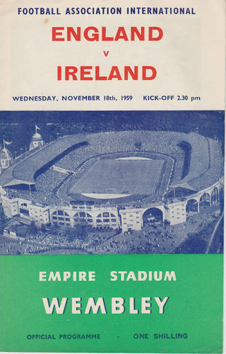 1959 - ENGLAND v NORTHERN IRELAND