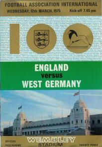 1975 - ENGLAND v WEST GERMANY (SPECIAL EDITION)