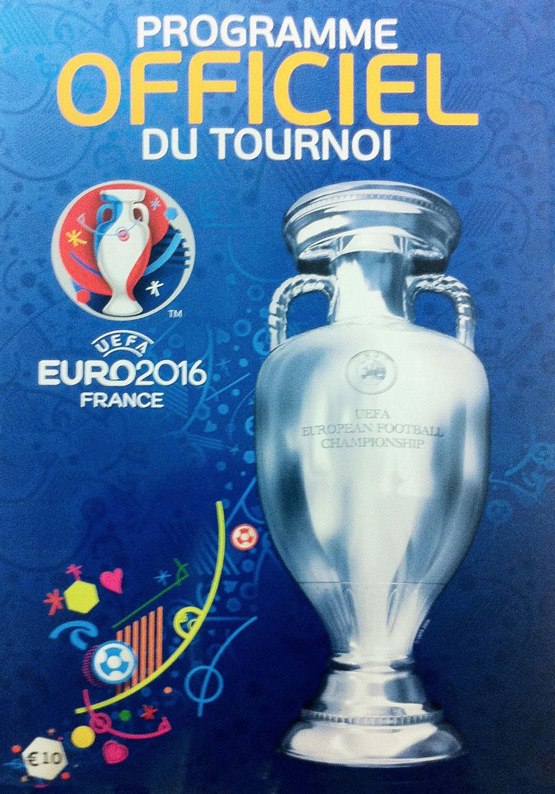EURO 2016 OFFICIAL TOURNAMENT PROGRAMME (FRENCH LANGUAGE)