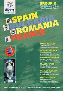 EURO 96 GROUP B - SPAIN, BULGARIA, ROMANIA & FRANCE