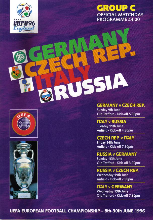 EURO 96 GROUP C - GERMANY, CZECH REP, ITALY & RUSSIA