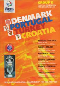 EURO 96 GROUP D - DENMARK, PORTUGAL, TURKEY & CROATIA