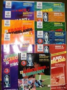 FULL SET OF ALL EURO 96 PROGRAMMES