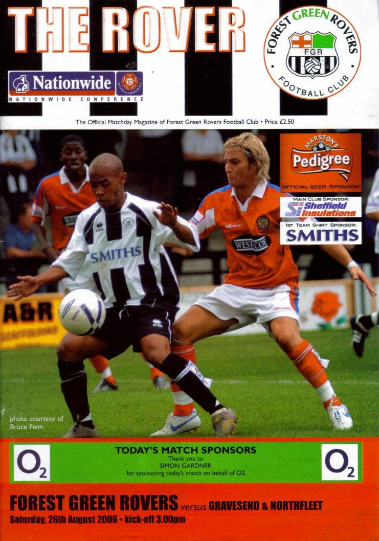 FOREST GREEN ROVERS v GRAVESEND 2006/07