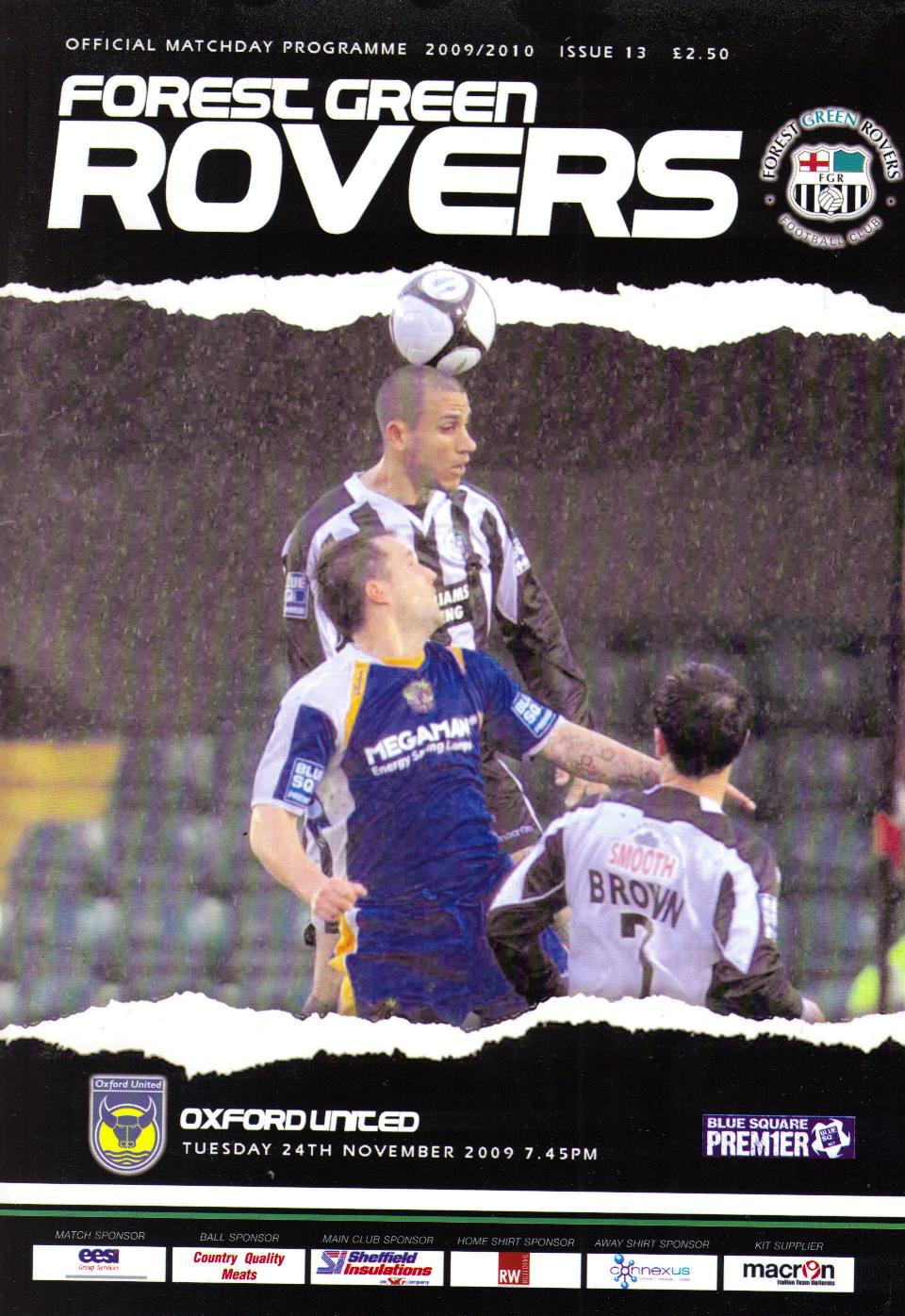 FOREST GREEN ROVERS v OXFORD UNITED 2009/10