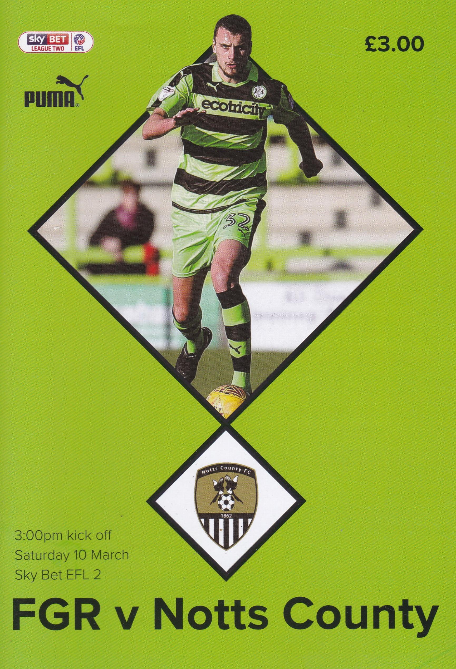 FOREST GREEN ROVERS v NOTTS COUNTY 2017/18