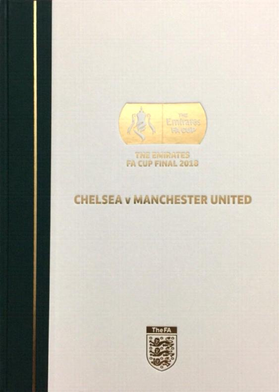 2018 FA CUP FINAL HARDBACK LIMITED EDITION - CHELSEA v MAN UTD