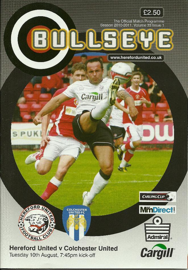 HEREFORD UNITED v COLCHESTER (CARLING CUP) 2010/11