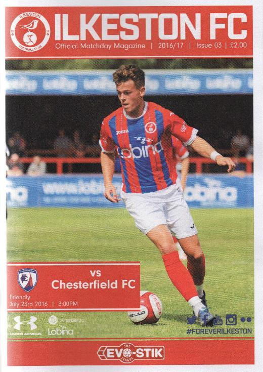 ILKESTON TOWN v CHESTERFIELD 2016/17 (FRIENDLY)
