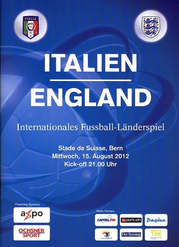 2012 - ITALY v ENGLAND (PLAYED IN SWITZERLAND)