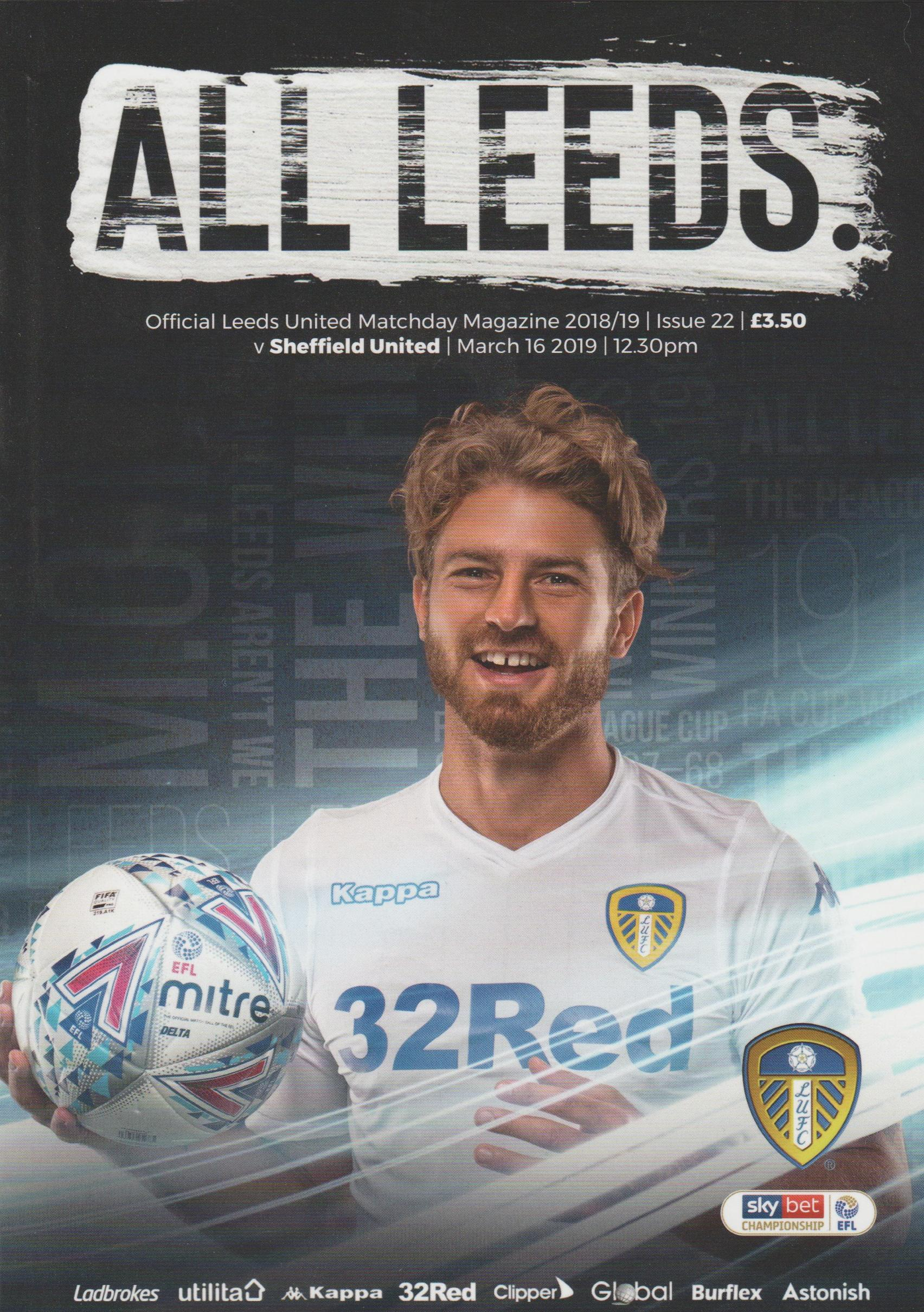 LEEDS UNITED v SHEFFIELD UNITED 2018/19
