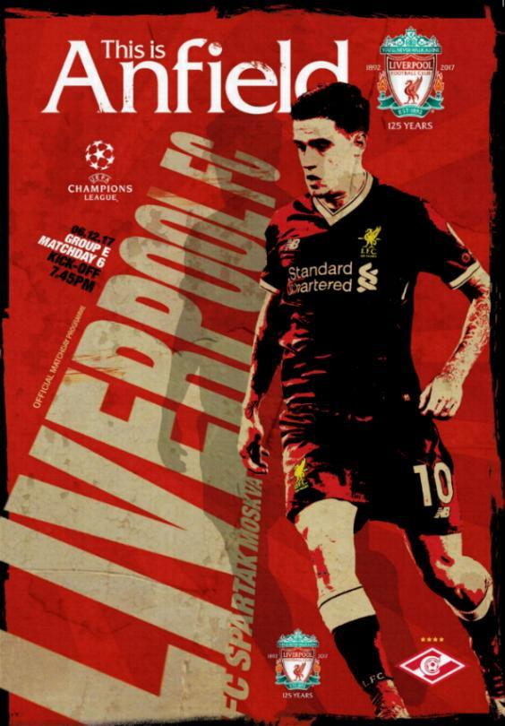 2017/18 CHAMPIONS LEAGUE - LIVERPOOL v SPARTAK MOSCOW