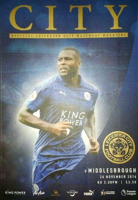 LEICESTER CITY v MIDDLESBROUGH 2016/17