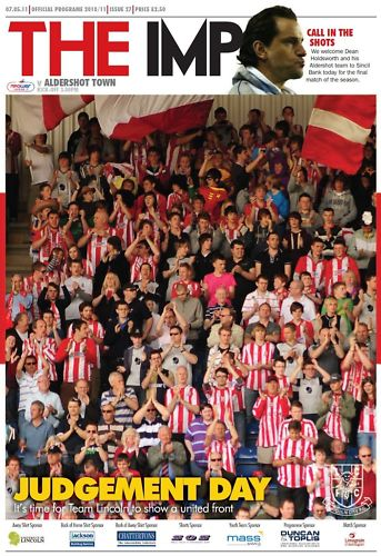 2011 - LINCOLN CITY v ALDERSHOT - LAST GAME IN LEAGUE