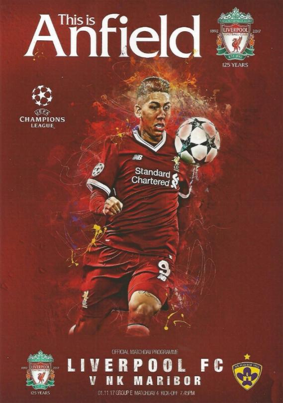 2017/18 CHAMPIONS LEAGUE - LIVERPOOL v MARIBOR