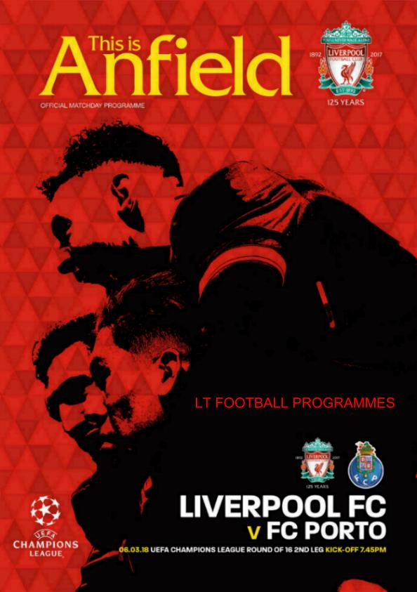 2017/18 CHAMPIONS LEAGUE - LIVERPOOL v FC PORTO