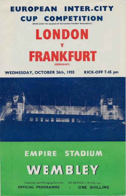 1955 - LONDON v FRANKFURT - INTER CITIES FAIRS CUP