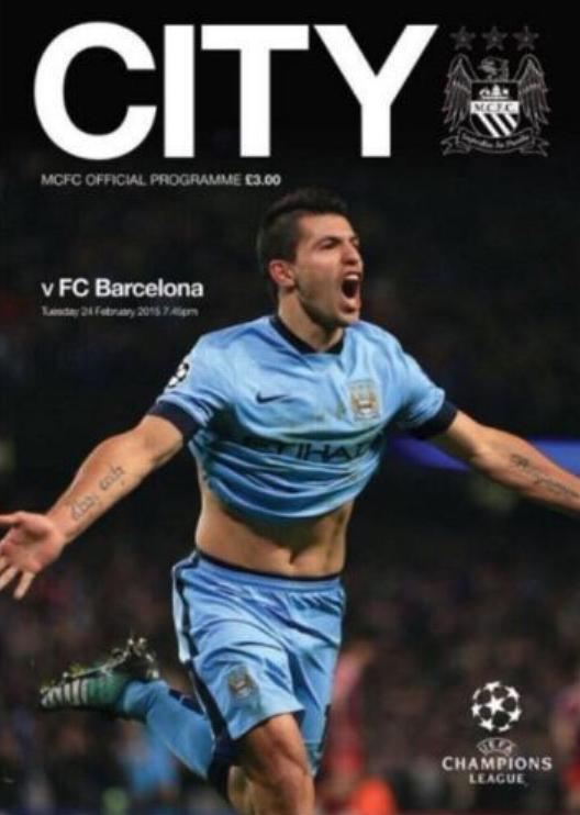 2014/15 CHAMPIONS LEAGUE - MAN CITY v BARCELONA
